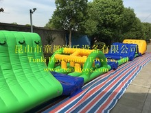 Aqua run water park water slide obstacle inflatable water obstacle for pool