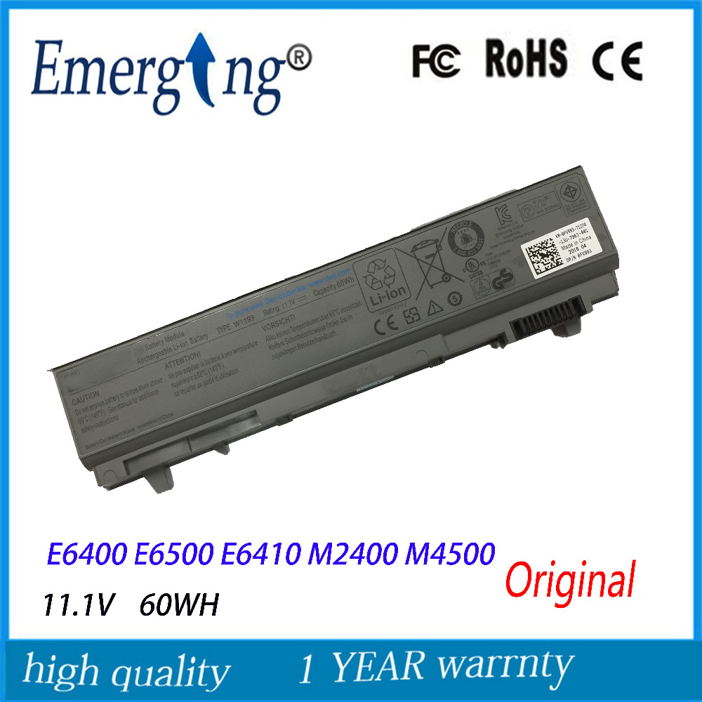Аккумулятор для ноутбука Dell M2400 E6400 M4400 M4500 PT434 PT437 PP27L KY265, 6 ячеек, 11,1 В, 60 Втч
