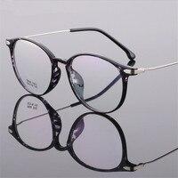 Kobiety Mężczyźni W Stylu Vintage Okrągłe Okulary Retro Okulary Optyczne Ramki Ramki Okularów Gogle Óculos ultralekki TR90 okulary 1002