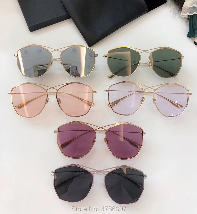 2019 Retro Irregular Sunglasses Luxury Brand Women Metal Transparent Sun Glasses UV400 Oversized Sunglases Eyewear Female