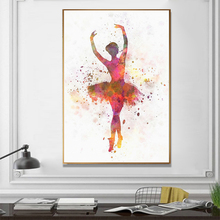 цены на Canvas Painting Print Dancing Girl Wall Art Decoration Posters And Prints Abstract Living Room Wall Pictures  в интернет-магазинах