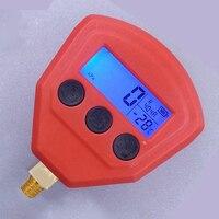 For Car Air Conditioner A/C Refrigeration R134a R22 R404A R410A R407C Digital LCD Display Low/High Pressure Gauge 1 piece/pair