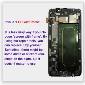 "Image 3 - 5.7 ""لسامسونج غالاكسي S6 حافة زائد LCD G928 G928F عرض شاشة تعمل باللمس + الإطار الجمعية قطع غيار سامسونج S6 حافة زائد LCD"