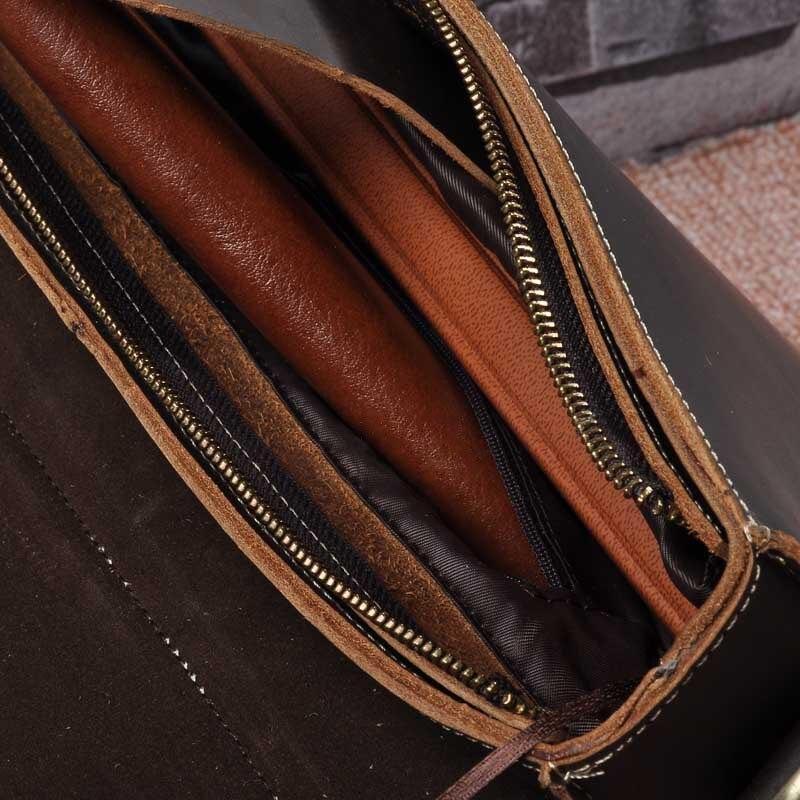 Винтажные мужские портфели из натуральной кожи, сумка через плечо из коровьей кожи, деловая сумка, чемодан, мужская сумка для ноутбука, портфель для женщин - 6