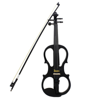 SEWS IRIN 4 4 Wood Maple Electric Violin Fiddle With Ebony Fittings Cable Headphone Case Black