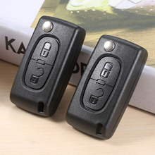 2Pcs Remote Car Key CE0523 Flip 433mhz ID46 PCF7941 VA2 2 Buttons Middle Trunk For Peugeot 307 Citroen C2 C3 C4 C5