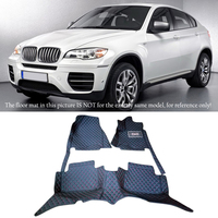 Car Inner Floor Mats Carpets Foot Protector Cover 1 Set For BMW X6 E71 2008 2014 Car styling accessories