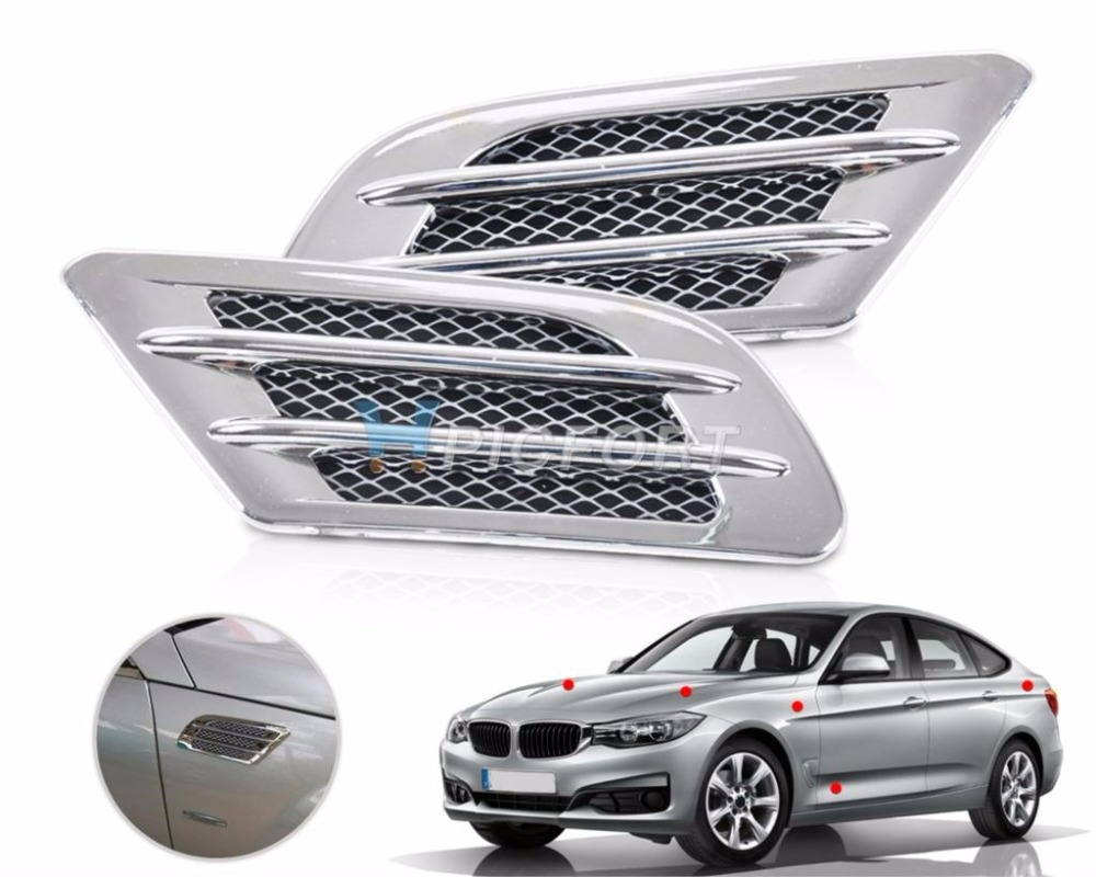 Citall Car Side Air Vent Fender Cover Hole Intake Duct