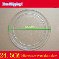 Galanz Microwave OvenParts 24 5cm Diameter Flat Glass Plate Free Shipping To RUSSIA