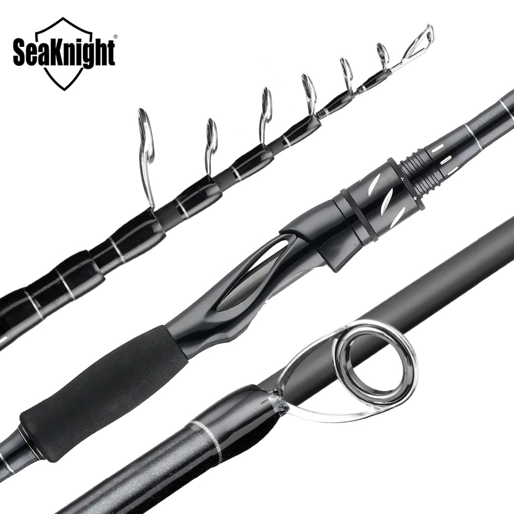 SeaKnight 2019 Sange II 2.1M 2.4M Carbon Telescopic Fishing Rod M Power Fishing