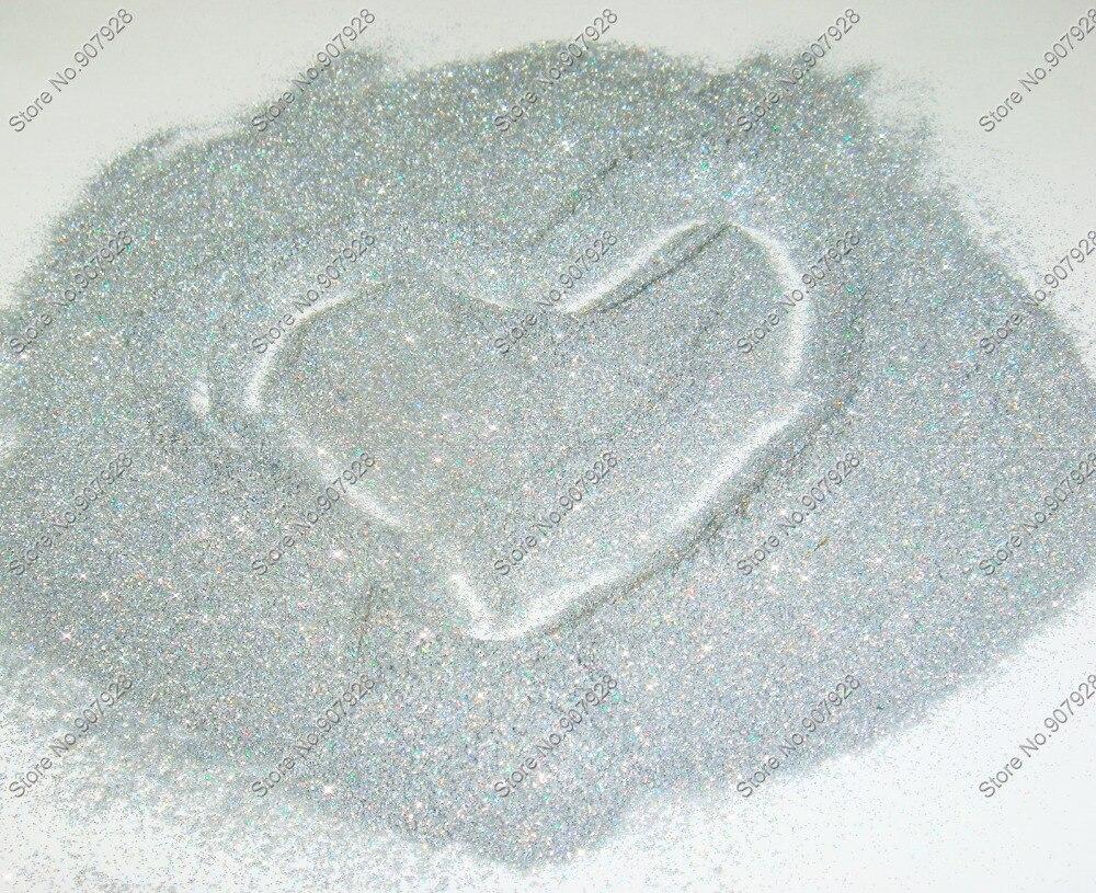 50 грамм x(0,1 мм) 004 Голографический лазерный, серебристый блестящий тонкий лак для ногтей порошок пыли для DIY ногтей искусство и блестки для рукоделия