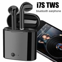i7s TWS Bluetooth Earbuds fone de ouvido Wireless Headphones Headsets Stereo In-Ear Earphones Charging Box for iphone Android(China)