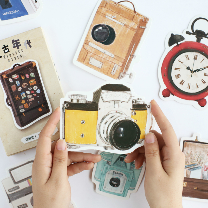 30 Pcs/pack Vintage Era Story Camera Greeting Card Postcard Birthday Letter Paper Retro Envelope Gift Message Cards Set