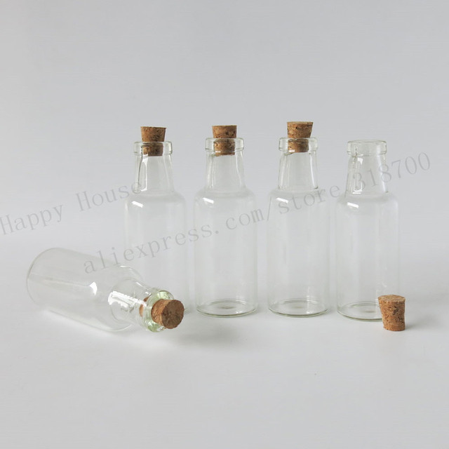 100 x 12ml mini clear wishing glass bottle,small cork stopper glass sample vial,current bottle with message