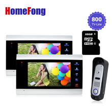 Homefong Security Apartment video door phone with video recording Video Intercom System Outdoor Station door camera with SD card