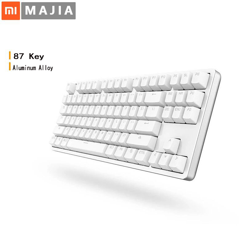 Xiaomi MK01 87 keys TTC Red Switch Backlight Aluminium Alloy Mechanical Keyboard Gaming Keyboard LED Backlit for Laptop PC Smart rainbow gaming backlight keyboard 87 keys colorful mechanical keyboard with blue black switches desktop for pc laptop