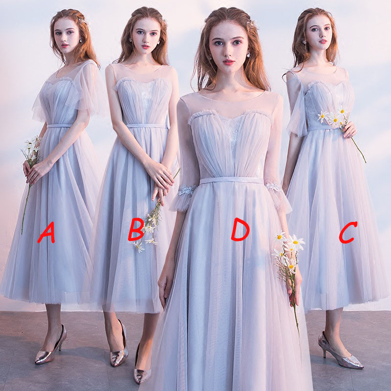 Mingli Tengda Champagne O Neck   Bridesmaid     Dress   2018 Elegant Long   Dresses   for Wedding Party for Women robe demoiselle d'honneur