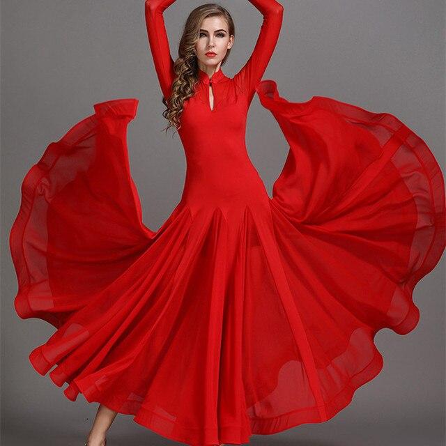 134fc639868fb Red Black Fashion Ballroom Dance Dress for Ballroom Dancing Waltz Tango  Spanish Flamenco Dress Standard Ballroom Dress
