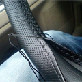 DIY Car Steering Wheel Cover With Needles and Thread Artificial leather Fiber Truck Automobile Interior accessory 1pc