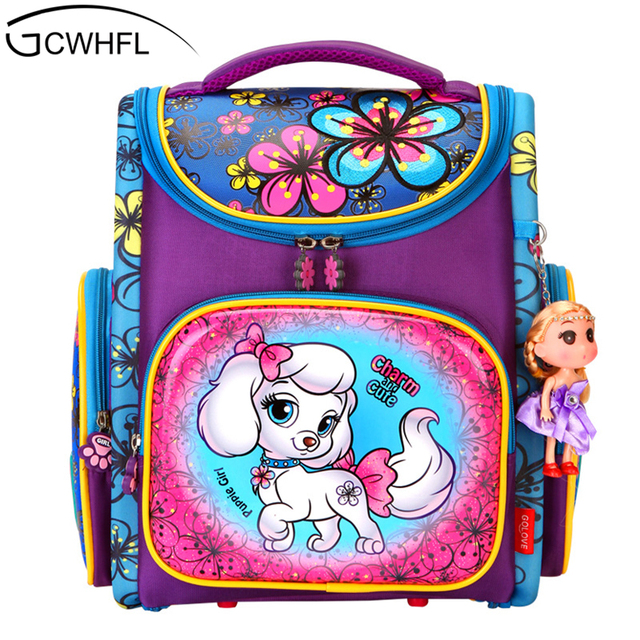 Orthopedic Backpacks Children Primary School Bags Girls Cartoon 3D Backpack  School Knapsack Boy Kids Book Bag 7840273415181