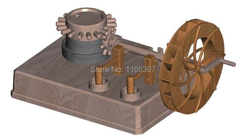 Teenage Children Kids Scientific Science Educational Models Experimental Toy Materials Water Mill Waterweel