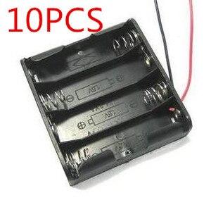 100% новый Binmer 10 шт. AA аккумулятор корпус пластиковый ящик держатель с 4 Высокое качество Горячая Распродажа Слоты JUN 20