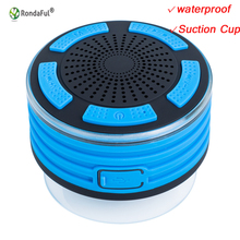 IPX7 Waterproof Outdoor Portable Column Wireless Speaker Car Subwoofer Amplifier with Suction Cup for iPhone xiaomi Samsung