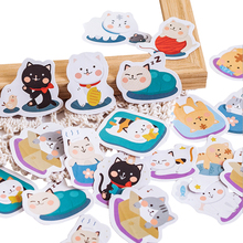 45pcs/pack Kawaii Cute Cat Pattern Decoracion Journal Paper Adhesive Stickers Scrapbooking Stationery Student Office Supplies