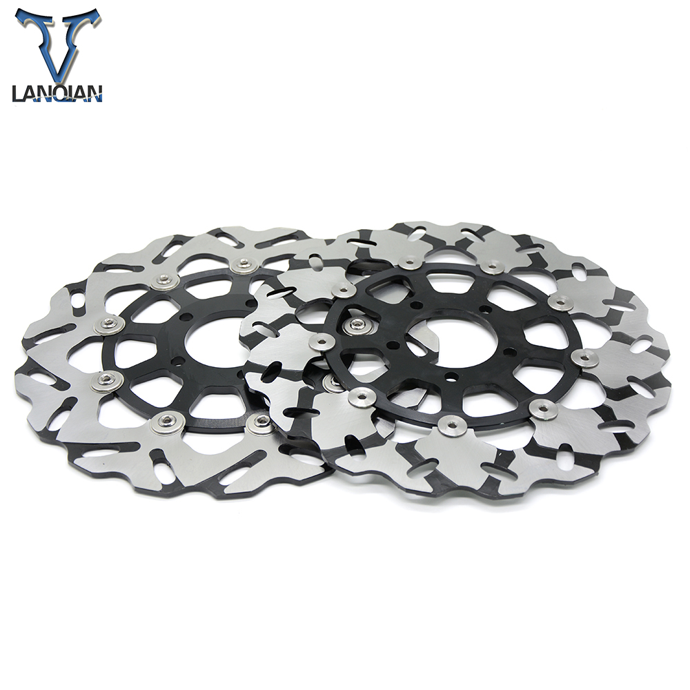 2PCS brakes discs for SUZUKI GSXR1300 gsxr 1300 1999 2007 Quality CNC Motorcycle Front Floating Brake