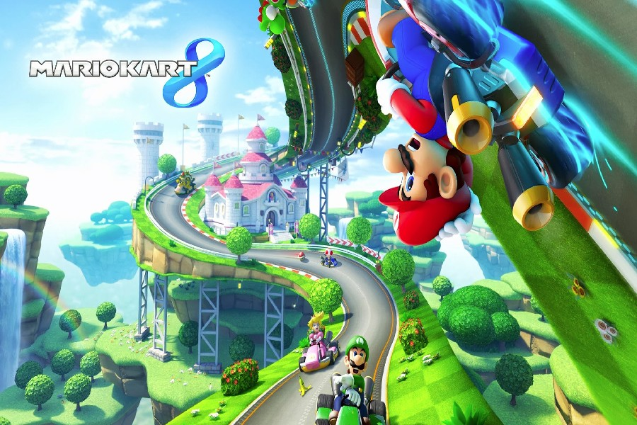 DIY frame Cartoon Super Mario Mario Kart 8 Game Poster Fabric Silk Colourful Posters And Prints For Home Decoration DFD0280