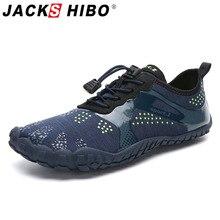 JACKSHIBO Summer Sneakers Men Shoes Outdoor Swimming Water Upstream Beach Aqua Breathable zapatillas hombre
