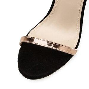 Image 4 - 2020 אופנה קיץ נשים 11.5cm גבוהה דק עקבים אבזם רצועת סנדלי נקבה פטיש גלדיאטור נעל גברת פגיון ולנטיין משאבות
