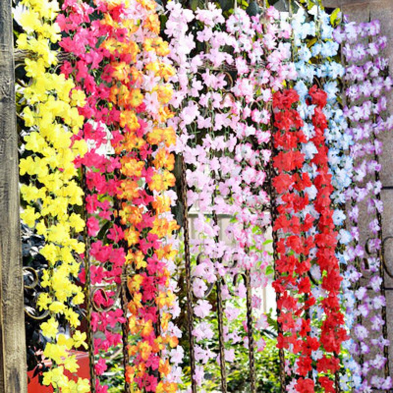250cm artificial flowers 7 colors vine peony wedding decoration home 250cm artificial flowers 7 colors vine peony wedding decoration home decoration accessories flower artificial plants wreath wa in artificial dried flowers junglespirit Gallery