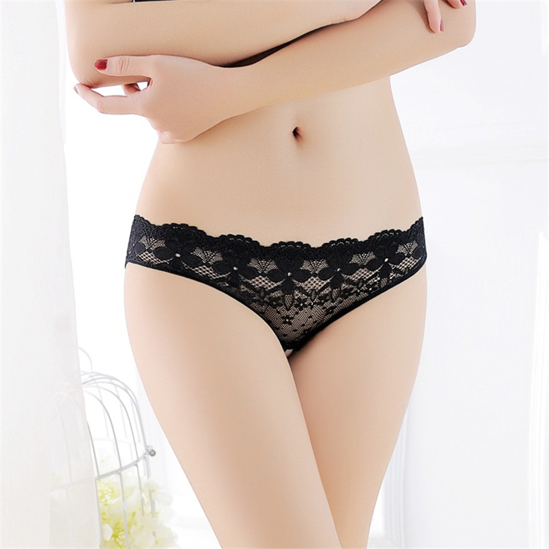 Sexy Lace Crotchless Panties Tempting Women Briefs Open Crotch Low Waist Female Underwear Transparent Sexy Panty Cute Underwear (2)