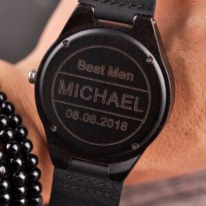 Image 3 - Personalizado gravado relógios de madeira presentes para o pai, mãe, amigos, aniversário, dia do aniversário, presente do padrinho