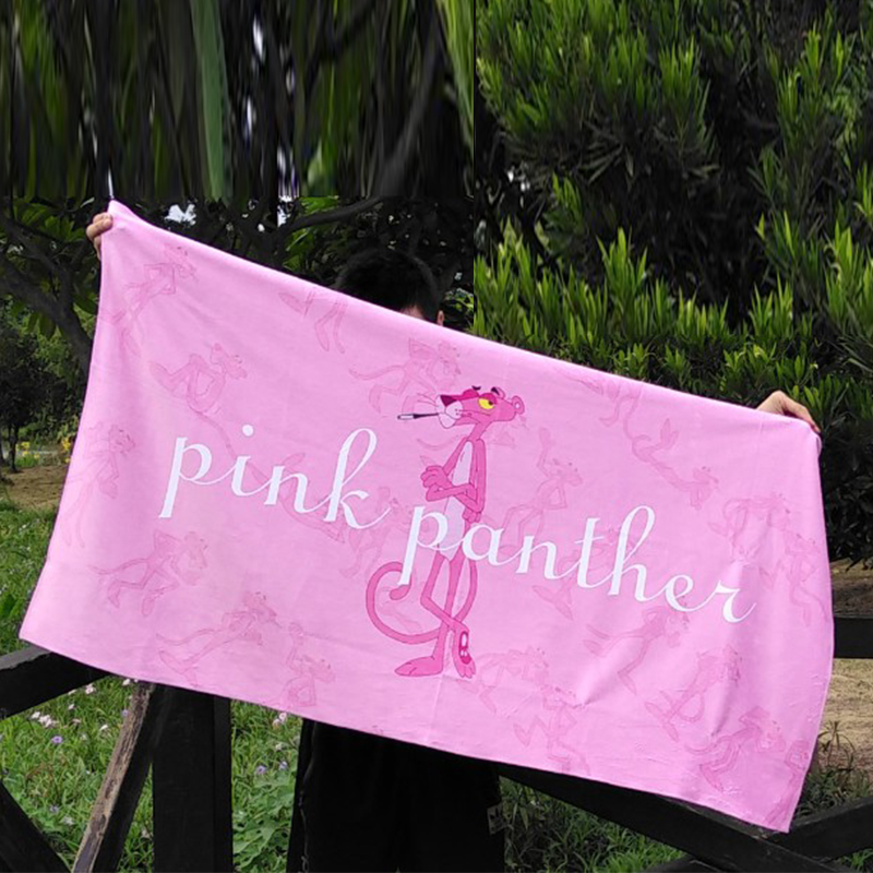 High Quality Bath Towel Pink Pattern Flamingo Panther