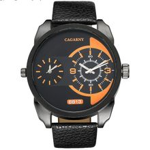 New Fashion men watch sports and leisure time zones CAGARNY Brand military watches relogio masculino
