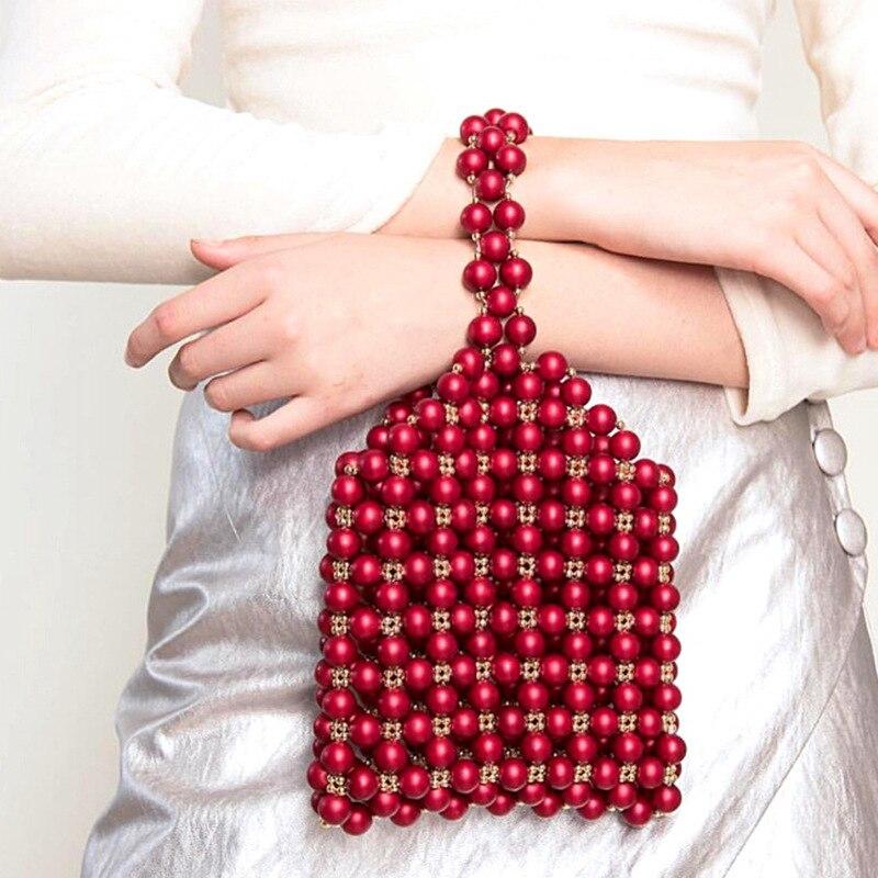 2019 printemps nouveau travail lourd avec le même design de niche julia & julie perle perlée sac à la main