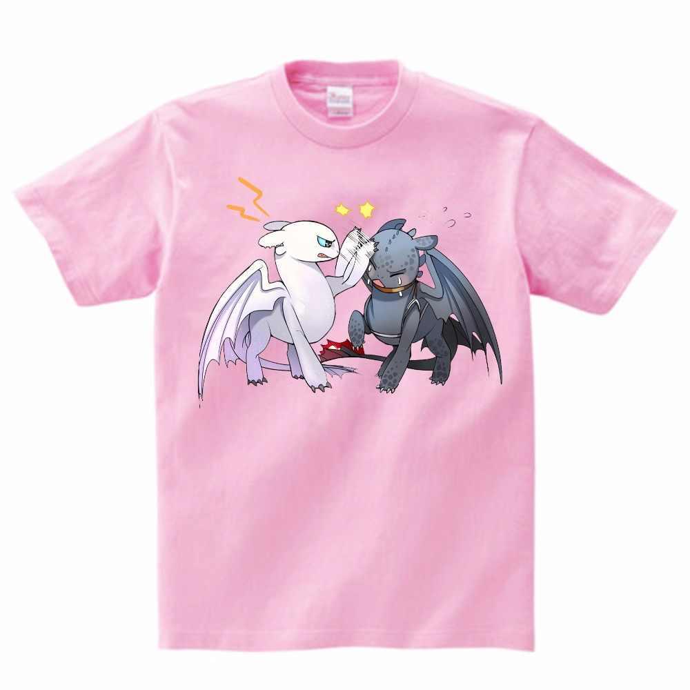 2019 ukryty świat T-shirt śliczne dzieci topy jak wytresować smoka Cartoon Tees T koszula lato Fantasy film ubrania MJ