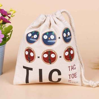 100pcs/lot Printed Logo Canvas Cotton Makeup Jewelry Storage Packing Bag Pouch Drawstring Bags Shopping Bag For Wedding Gifts 100pcs lot size 90x92cm 36x36 8 home textiles shopping cloth cotton drawstring bag wholesale