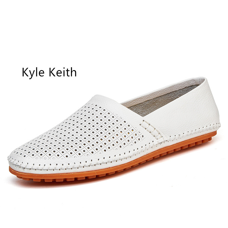 Kyle Keith Plus Size 38-47 Genuine Leather Casual Shoes Soft Bottom Men Loafers Male Driving Flats Shoes Moccasins Footwear male casual shoes soft footwear classic flats men genuine leather shoes good quality working shoes size 38 44 aa30059