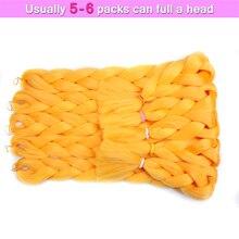 Синтетические Волосы для Плетения 82 Дюймов Jumbo Косы 165 г Высокотемпературного Волокна Крючком  Лучший!