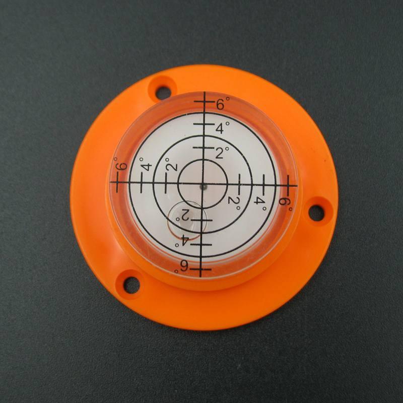 (10 Teile/los) 50*17mm Bullseye Wasserwaage Wasserwaage Runde Rund Libelle Wiht Befestigungslöcher Zu Verkaufen