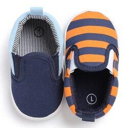 Moda listra do esporte do bebê tênis botas menino clássico recém-nascidos mocassins infantil menina casual botas crianças berço bebe sapadinho