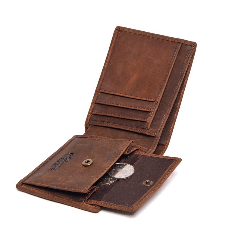 Реальна шкіра гаманець чоловіків організатор гаманці марка Vintage Натуральна шкіра коров'ячої короткий чоловічий гаманець гаманець з монетою кишеньковий TW1653  t
