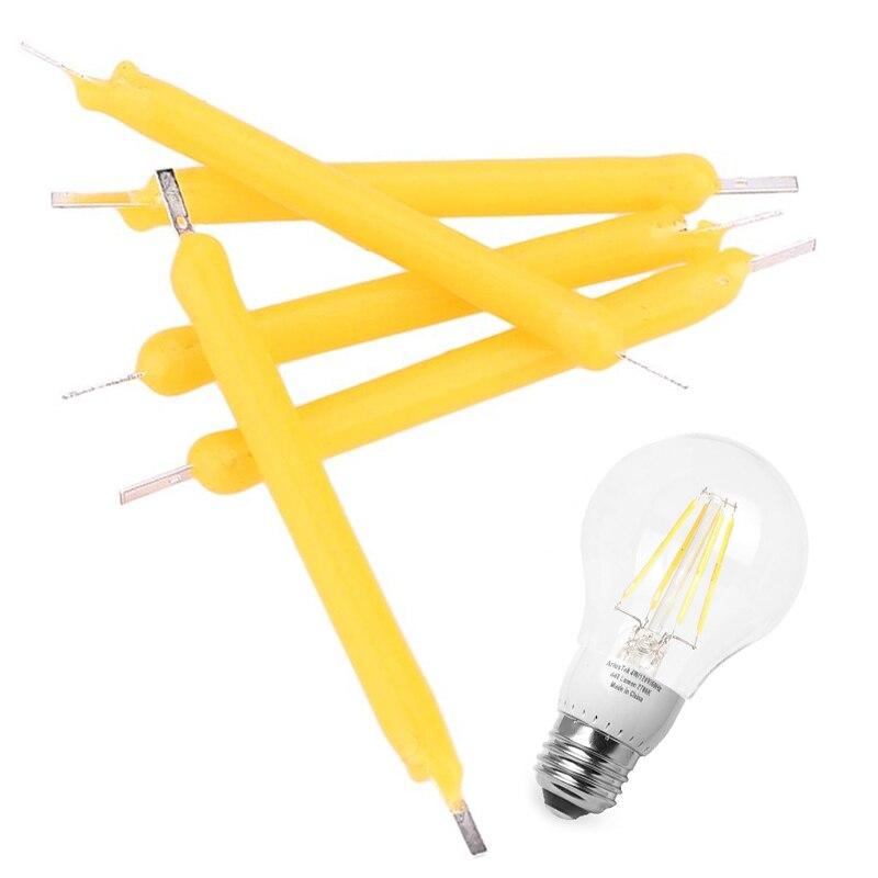 5Pcs/Set Candle Light Source Filament Bulb  COB LED 130LM Lighting Accessaries Household DIY Bright Indoor Outdoor 1W DC12V