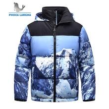 Новые мужские зимние куртки на утином пуху, толстые Утепленные зимние парки, мужская повседневная верхняя одежда с принтом s, сверхлегкая пуховая куртка для мужчин