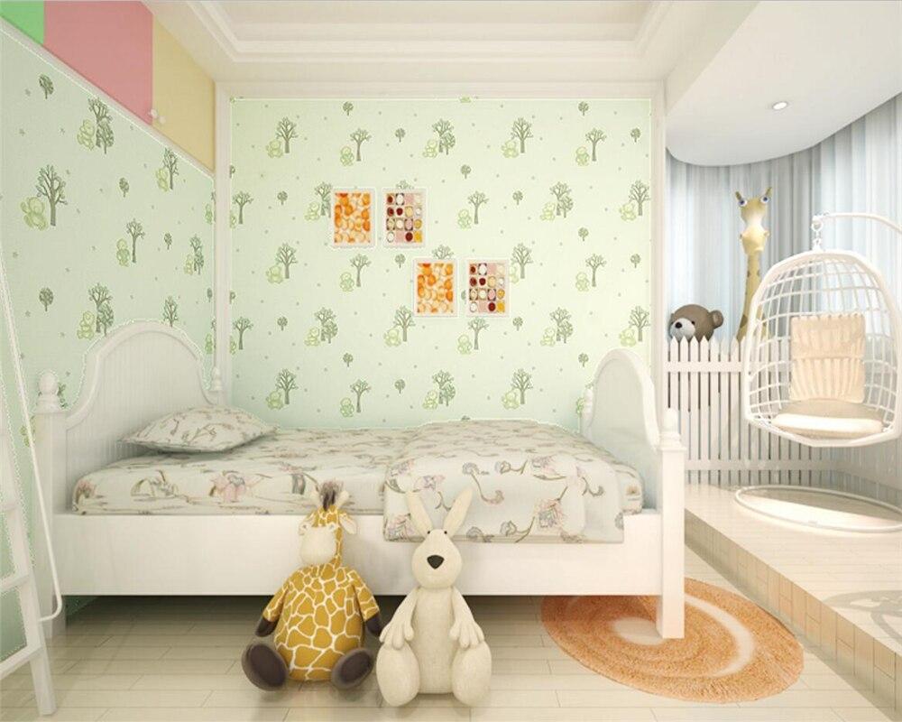 Behang Kinderkamer Geel : Beibehang 3d cartoon beer 3d behang pastorale slaapkamer kinderkamer