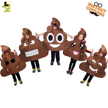 QLQ new arrival poop costumes all kinds of funny poop jumpsuit fancy dress carnival party cosplay poop costumes(China)