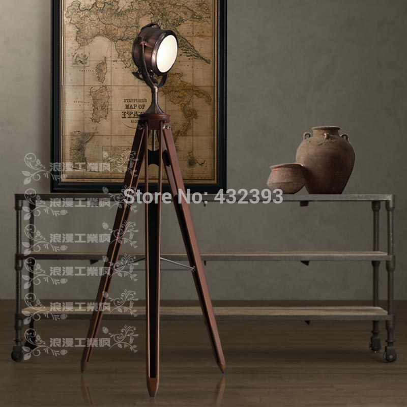Vintage Loft Machinery Industry Tripod Floor Lamp For Living Room Standing Industial Fixture Lighting In Lamps From Lights On